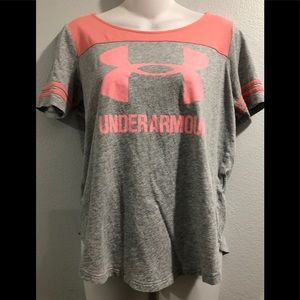Under Armour Gray & Coral Tshirt - S